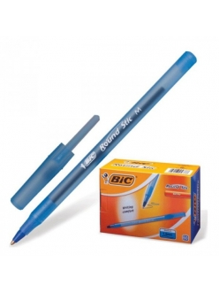 """Ручка шариковая неавтоматическая """"Round Stic"""", синий"""